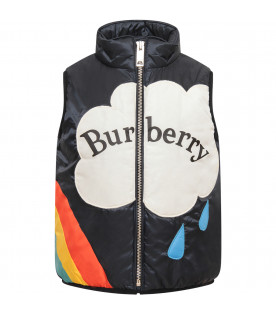 BURBERRY KIDS Blue boy ilet with colorful rainbow