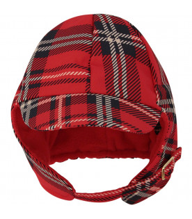 MINI RODINI Red hat with peak