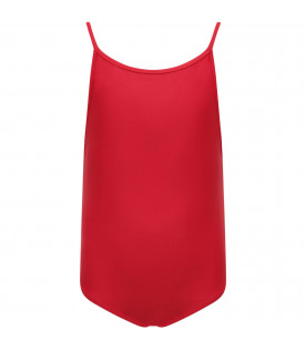 BURBERRY KIDS Red girl swimsuit
