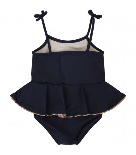 BURBERRY KIDS Blue babygril swimsuit