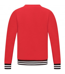 GIVENCHY KIDS Red kid sweatshirt with white logo