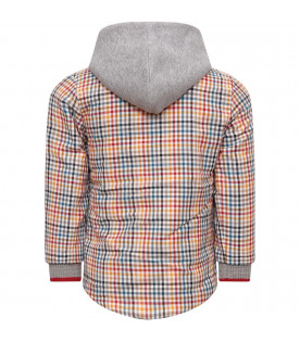 MUMOFSIX Multicolor boy shirt with check
