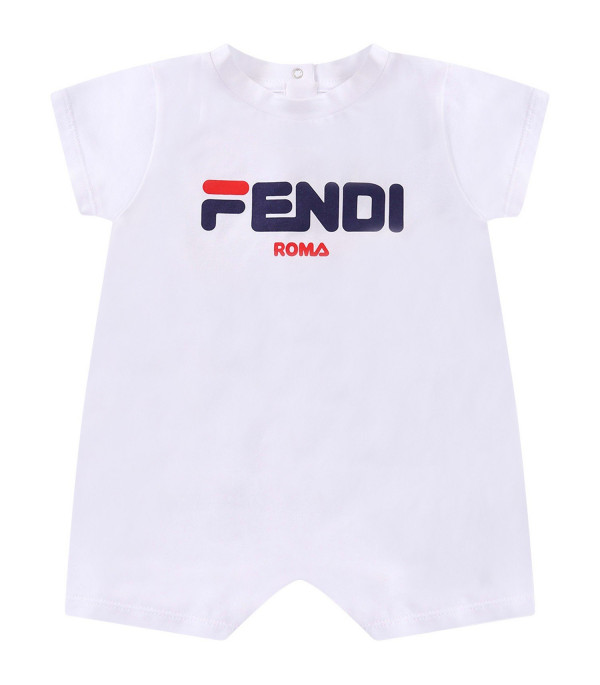 FENDI KIDS Set Fendi Mania bianco per neonati
