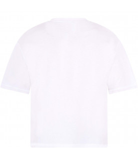 FENDI KIDS White girl Fendi Mania t-shirt