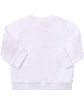FENDI KIDS White baby Fendi Mania sweatshirt