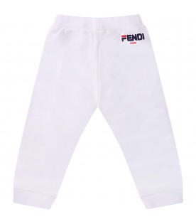 White baby Fendi mania pants