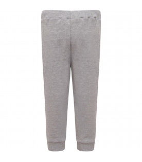 MUMOFSIX Grey boy sweatpant with colorful geometric figures