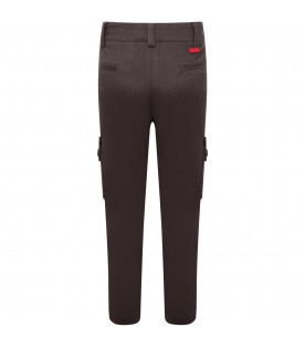 MUMOFSIX Grey boy cargo with red logo