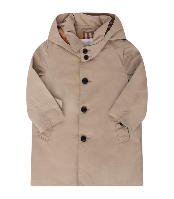 BURBERRY KIDS Beige kids trench with vintage check