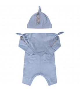 BURBERRY KIDS Heavenly babyboy set with classic check