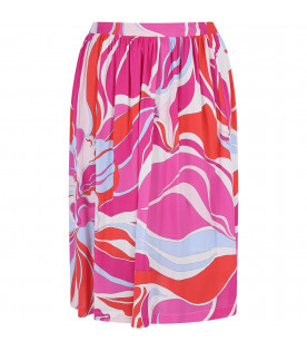 EMILIO PUCCI JUNIOR Multicolor girl skirt with colorful print
