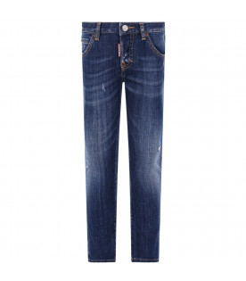 "DSQUARED2 Denim blue ""Cool girl"" girl jeans with white logo"