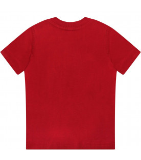 DSQUARED2 Red babyboy T-shirt with white logo