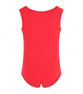 GCDS KIDS Red girl body with white logo
