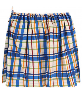 MARNI KIDS Colorful girl skirt with bow