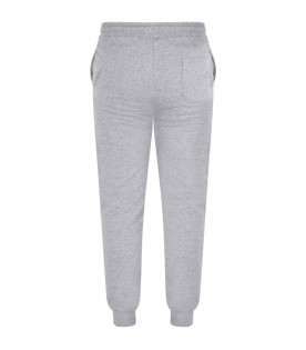 MSGM KIDS Grey girl sweatpants with pink logo