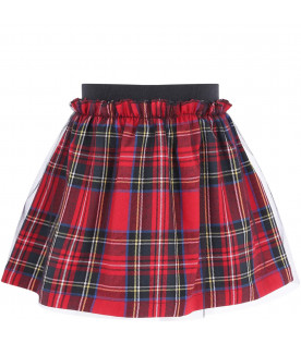 PRVT LABEL Colorful girl skirt with tulle