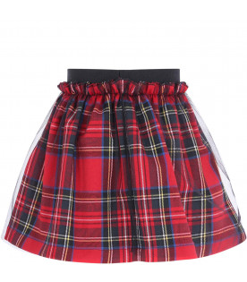 Colorful skirt with tulle for girl
