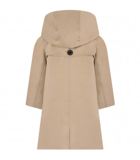 BURBERRY KIDS Beige girl trench coat