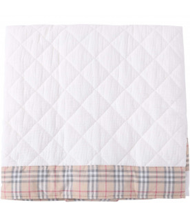 BURBERRY KIDS White babykids blanket