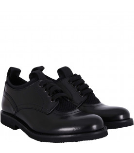 GALLUCCI KIDS Black boy lace-up shoes