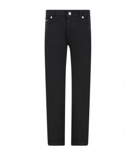 DOLCE & GABBANA KIDS Black boy jeans with black patch