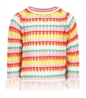 STELLA MCCARTNEY KIDS Colorful girl sweaater