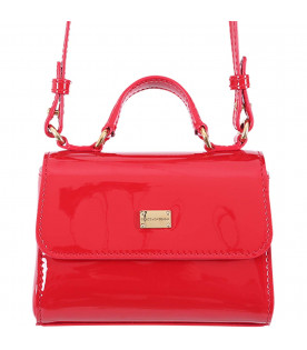 DOLCE & GABBANA KIDS Red girl bag with metallic logo