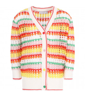 STELLA MCCARTNEY KIDS Cardigan colorato per bambina