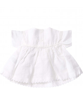 STELLA MCCARTNEY KIDS Blusa bianca per neonata con cilieigie colorate