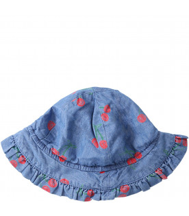 STELLA MCCARTNEY KIDS Cappello celeste denim per neonata