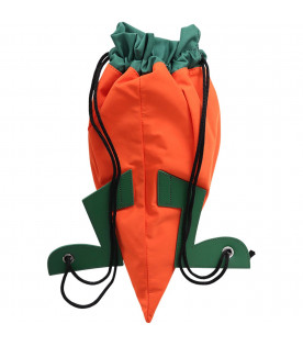 STELLA MCCARTNEY KIDS Orange and green boy backpack