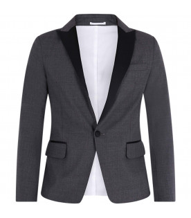 DSQUARED2 Grey boy jacket with black trimming