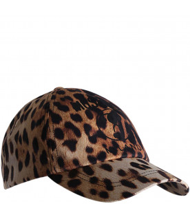 MOSCHINO KIDS Animalier printed girl hat
