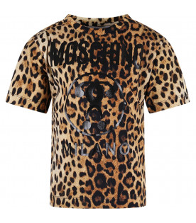MOSCHINO KIDS Animalier printed girl T-shirt