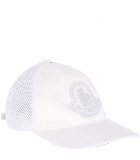 MONCLER KIDS White girl hat