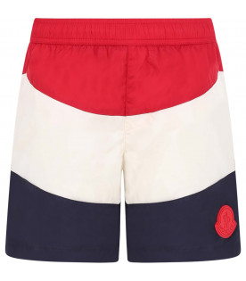MONCLER KIDS Colorful boy swimwear