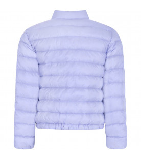 MONCLER KIDS Lilac girl jacket with ruffle