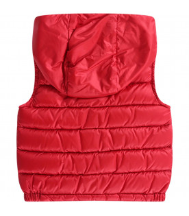MONCLER KIDS Colorful babyboy gilet with patch