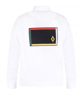 MARCELO BURLON KIDS White boy jacket with colorful flags