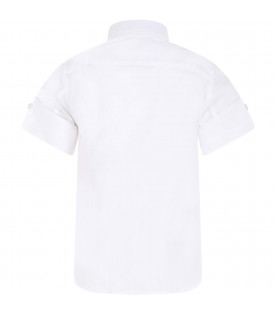 MSGM KIDS White boy shirt with colorful writing