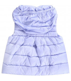MONCLER KIDS Lilac babygirl gilet with patch