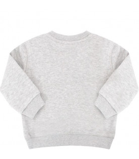 KENZO KIDS Grey sweatshirt with colorful tiger
