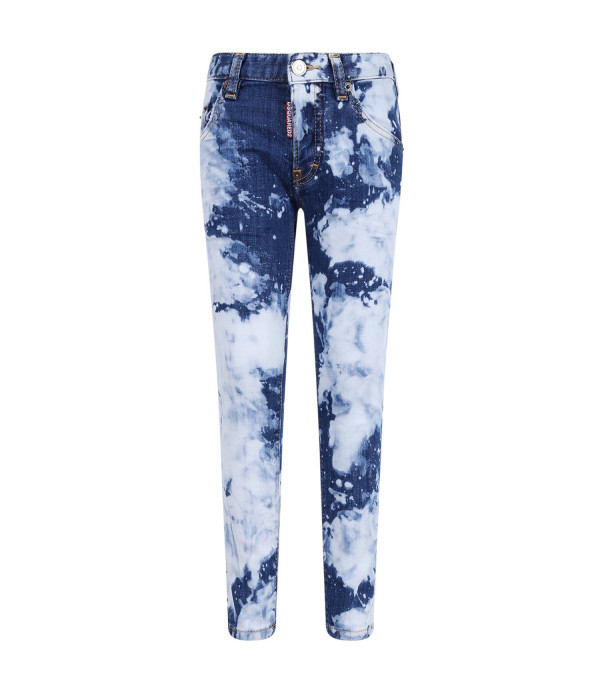 DSQUARED2 Blue and white boy jeans