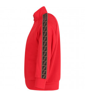 Red boy sweatshirt with iconic double FF