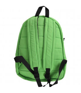 MSGM KIDS Neon green boy backpack with white logo