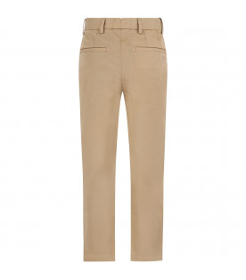 Beige boy pant with iconic horse