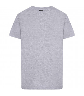 LANVIN PETITE Censored logo grey boy t-shirt