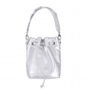 SIMONETTA Bucket bag for girls with shoulder strap and glittered flowers