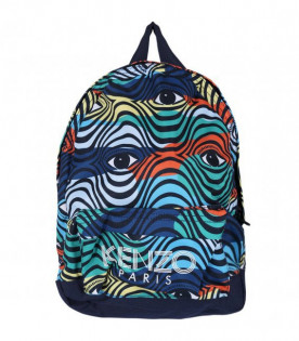KENZO KIDS Coloful boy backpack with eyes